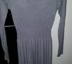 Divided H&M siva pletena haljina 34/36 NOVA