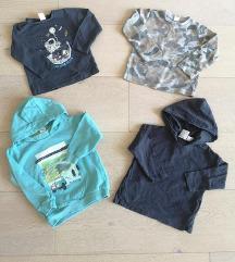 Lot majice za dječake, 4 kom