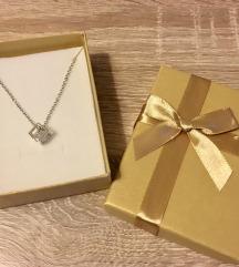 Predivna ogrlica - cirkon u kocki *novo*