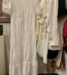 Ljetna Bijela Zara Haljina na kopčanje