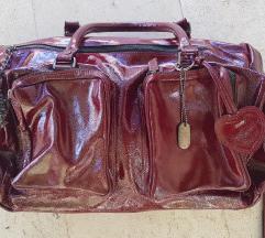 Nova Marella bordo crvena lakirana torba