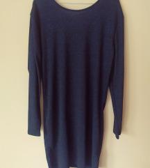 Crno plava svjetlucava haljina NOVO