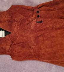 Kožna mango haljina