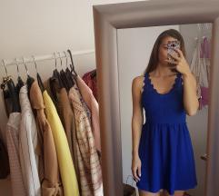 Plava H&M haljina s cipkom