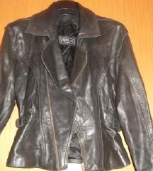 Crna jakna od prave kože M