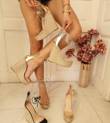 Prodajem sandale (boja šampanjca)