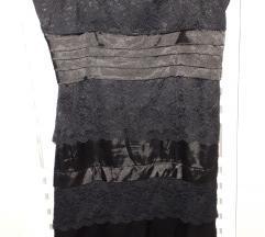 Mala crna čipkasta haljina