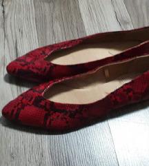 Nove H&M crvene balerinke-zmijski uzorak