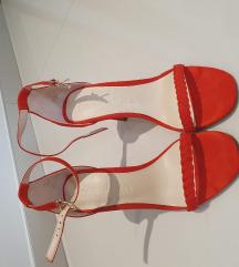 Bershka crvene štikle sandale