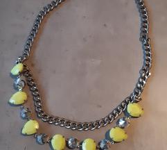 Zara neon ogrlica