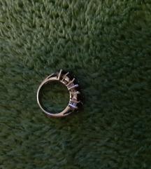 Srebrni prsten sa granatima🔥Tisak gratis