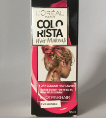 Loreal privremena boja (hair make up, hot pink)