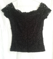 Tally Weijl crna čipkasta majica