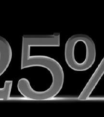 Sniženje 25% na sve artikle iznad 100kn