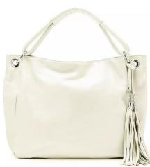 Nova bijelo bež kožna torba