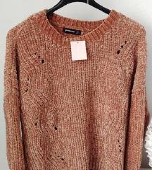 Chenille pulover majica vesta Stradivarius