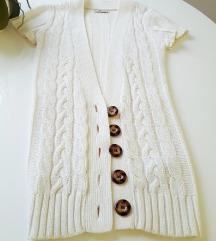 Novi bijeli pulover/jaknica/tunika