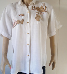 Nova pamućna bluza sa aplikacijama br L - XL