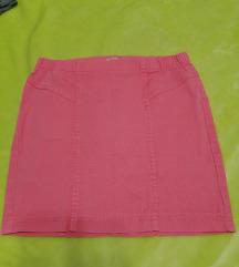 Elasticna suknja roze boje s gumom