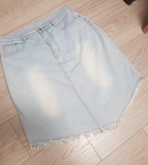 Jeans suknja/asimetricna💜