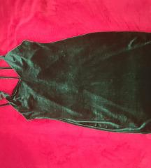 Zelena velvet haljina