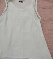 Bijela bluza s perlicama