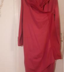 Duga pamucna tunika pink boje