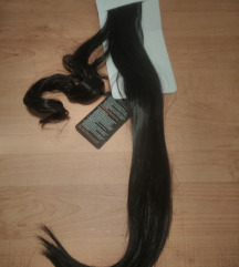 Crni sintetički rep 50cm