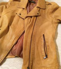 Žuta kožna jakna