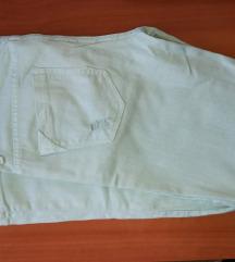 Zara pastelno zelene hlače, vel. 36