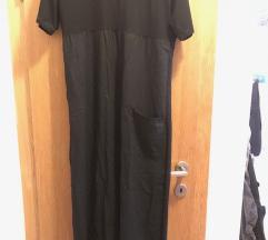 ADEPTT crna duga haljina A kroja (L-XL)