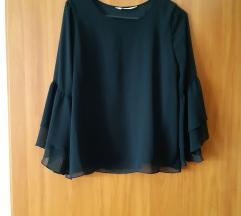 H&M crna lepršava bluza, vel.S