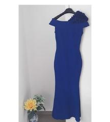 Kraljevsko plava duga haljina