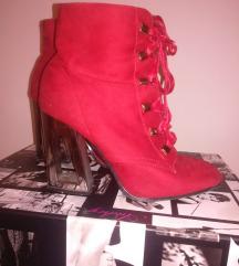 Crvene čizme, cool metalna peta 37.5