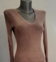 smeđa haljina/tunika xs