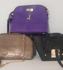 Lot od tri torbice