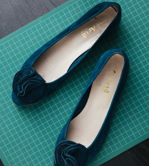 Re Artu cipele od plave brušene kože