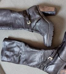 Čizme do koljena kožne