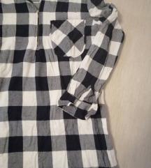 Karirana košulja  tunika