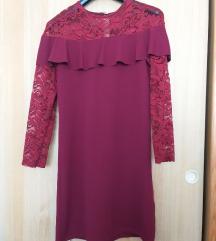 Bordo mini haljina