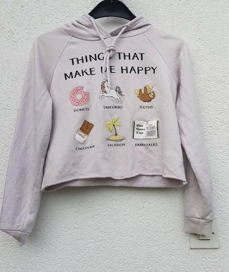 Crop majica duksa XS/S