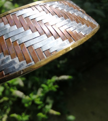 Art ogrlica, mesing, bakar aluminij