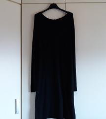 Mango crna pletena haljina vel L