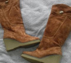 Tople camel čizme sa krznom