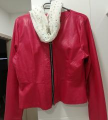 Crvena kožna jaknica ❤️