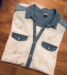 H&M košulja embroidered dorađena/Unikat 38