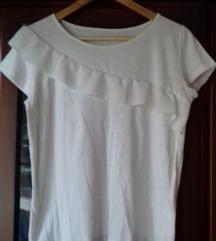 Bijela majica s volanom