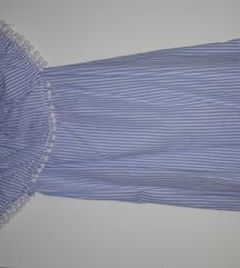 Off shoulder haljina na prugice