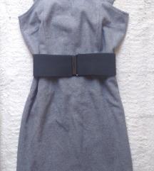 Mala siva zimska haljina