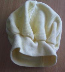 Žuta pamučna kapica za bebe novorođenče